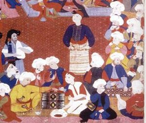 Ottoman coffeehouse, 1500s AD (cf. S. al-Hassani, 1001 Inventions: Muslim Heritage in Our World, Manchester 2006)