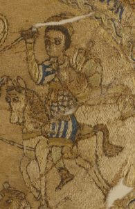 Coptic embroidery of a man on a horse