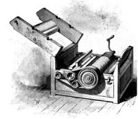 Eli Whitney's cotton gin - a machine with a crank handle