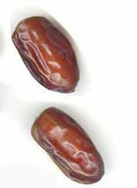 two dates - brown ovals
