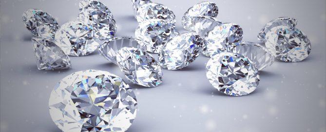Diamonds - glittery and semi-transparent