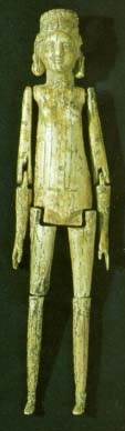 A Roman doll with jointed arms and legs