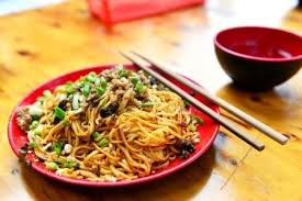 Chinese food - noodles and chopsticks