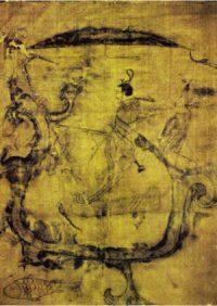 Eastern Zhou man fighting a dragon (ca. 300 BC)