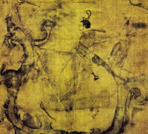 Eastern Zhou man fighting a dragon (ca. 300 BC)