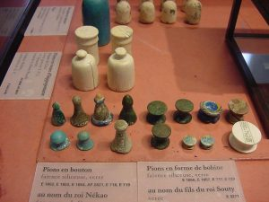 Egyptian game pieces