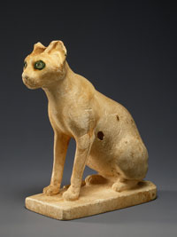 model of a cat sitting on its hind legs