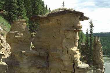 Erosion of a cliff in Canada