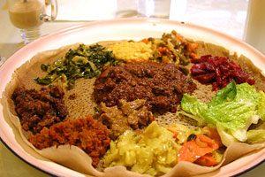 Ethiopian food platter