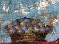 A Roman painting of figs in a basket
