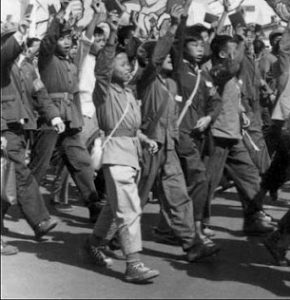 Children marching during the Great Leap Forward