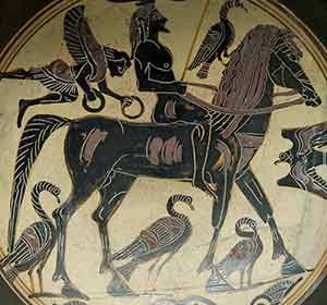 Greek man riding a horse, ca. 550-530 BC (Rider Painter, British Museum)
