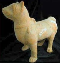 A clay dog from Han Dynasty China