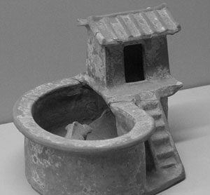 Chinese clay model of an outhouse