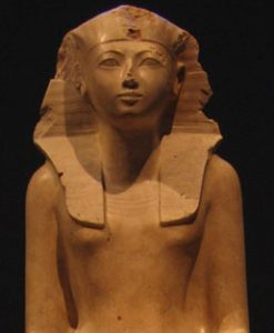 Egyptian New Kingdom pharaoh - stone statue of a woman - Hatshepsut