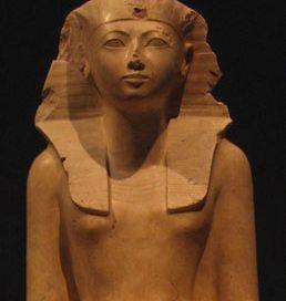 Egyptian New Kingdom pharaoh - stone statue of a woman - Hatshepsut