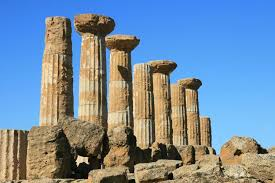 Temple of Herakles, Agrigento, Sicily: an early Greek temple with pillowy column capitals