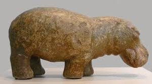 Hippopotamus statue from the New Kingdom: Ancient Egyptian Animals
