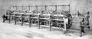 A knitting machine - long machine made of steel: knitting history