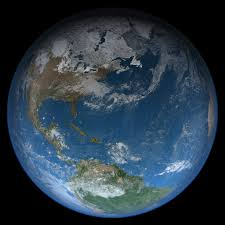 image of the earth from space, with its blanket of mostly nitrogen atmosphere
