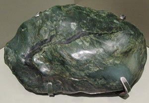 Jade rock: greenish and smooth