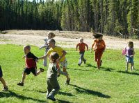 children running in a game