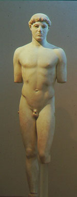 Kritios Boy: a marble statue of a nude boy