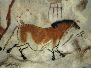 Lascaux cave painting of a horse (ca. 13,000 BC)