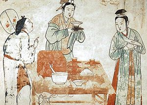 Chinese women making tea (Liao Dynasty, ca. 1000 AD)