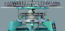 modern knitting machine made of steel