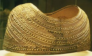 Mold gold cape (Britain, ca. 1800 BC), now in the British Museum
