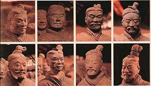clay heads of Terracotta Warriors