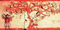 Uighur women picking mulberries (ca. 400s AD)