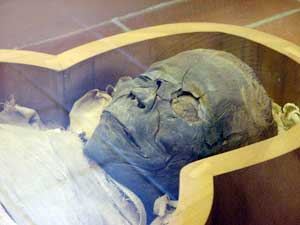 Head of a mummified woman (Vatican Museum, Rome)
