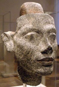 Granite head of Nefertiti (now in Berlin)