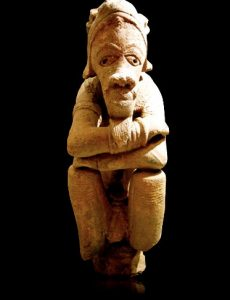 Nok sculpture from West Africa, about 500 BC(The Barakat Gallery)