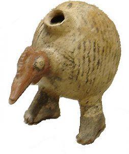 Olmec clay image of a turkey