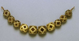 Ostrogothic beads of gold and garnet (a Central Asian style) Now in Walters Art Gallery