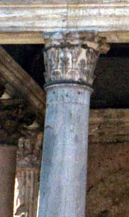 A Corinthian column capital from the Pantheon in Rome