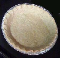 Pie crust in an aluminum pan