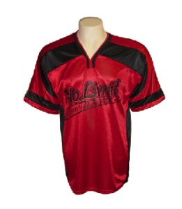 red sports polyester shirt - polyester fabric