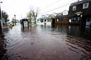 Port Jefferson flooded streets