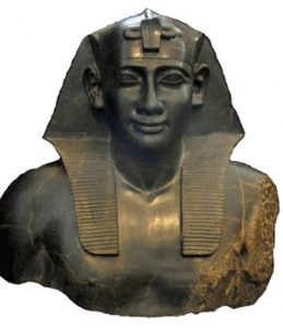 Statue of Ptolemy dressed up like an Egyptian