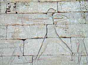 Egyptian stone carving: Ramses III defeating the Sea Peoples