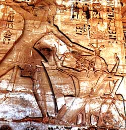 Rameses III and prisoners
