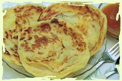 Roti bread - round and flat