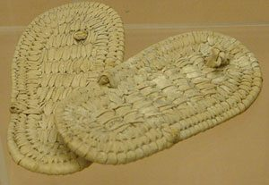 Straw flip-flops from ancient Egypt