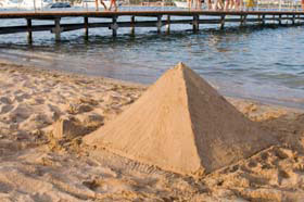 sand pyramid at the beach