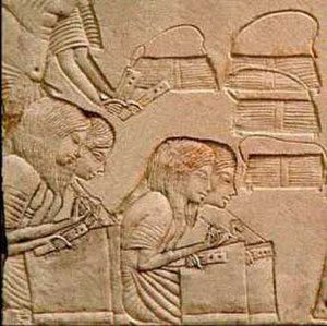 Scribes writing (New Kingdom Egypt)