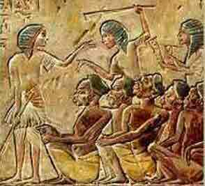 Slaves with dark skin, probably from south of Egypt